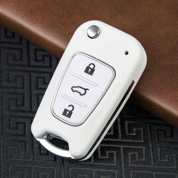 OkeyTech 3 Кнопка Белый Флип дистанционного ключа автомобиля Shell чехол для KIA Sportage K2 K5 Для Blank Uncut Клинок Keyless Fob Обложка