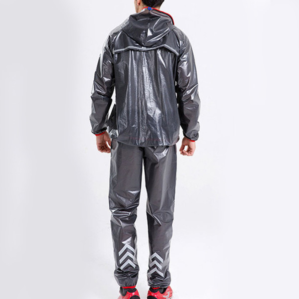 transparent cloak raincoat black polyester +tpu rain coat hood waterproof poncho emergency accessories cover mantle