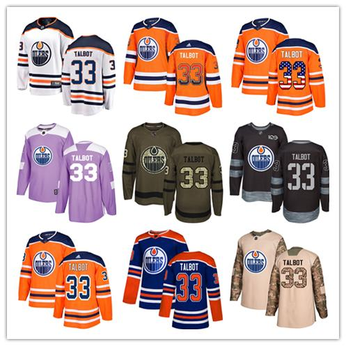 huge discount 0fa50 f5ae8 2019 Edmonton Oilers Jerseys #33 Cam Talbot Jersey Hockey Men Women Youth  Royal Blue Orange White Home Breakaway Stiched Authentic Jerseys From ...