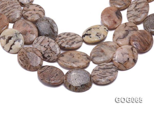 Jyx 1 nature String gros 30x25mm ovale brin Picasso pierre chaîne collier bracelet bricolage pour le bricolage Collier 16