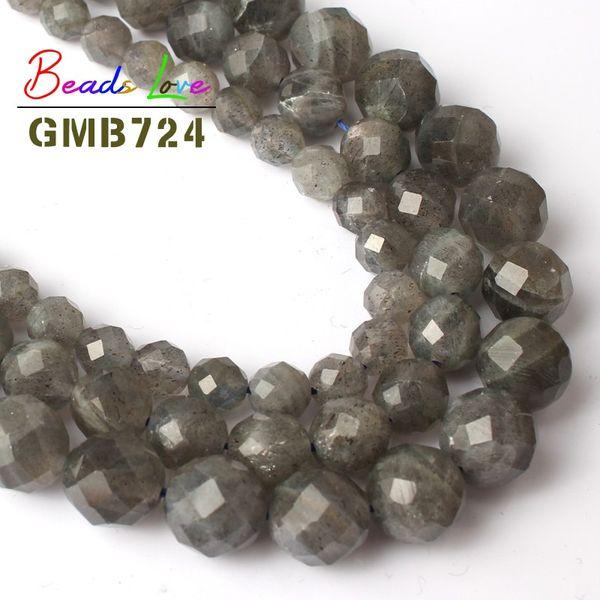 Newest Diy 6//8//10mm Natural Stone Labradorite Round Beads fit bracelet necklace