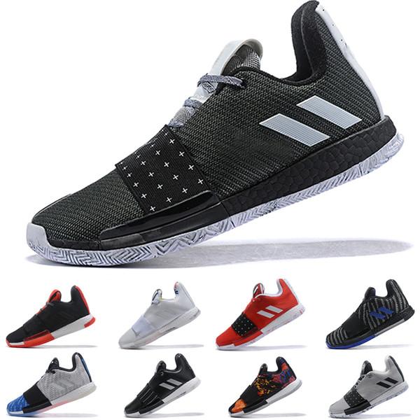 2019 Lo nuevo James Harden 3 vol.3 Se buscan zapatos de baloncesto de los hombres de tamaño de alta calidad de la zapatilla de deporte 40-46 Sport Trainer