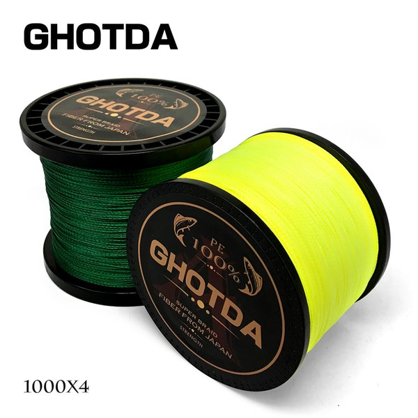 Cheap s GHOTDA 1000M Line 10-80LB Braided Line Smooth Multifilament PE Fishing Line for Saltwater Fishing