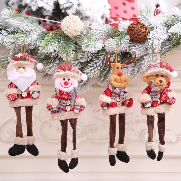 1 best selling Santa Claus snowman reindeer doll Christmas decoration Christmas tree hanging jewelry pendant holiday best giftM3