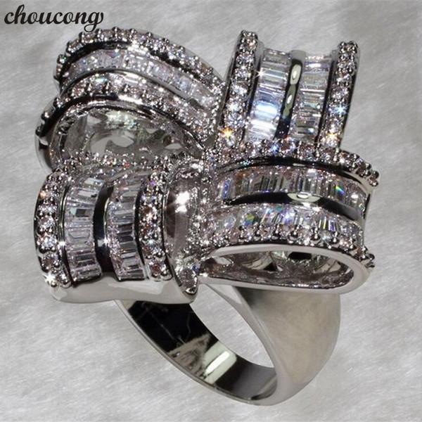 choucong Big Flower Promise Anello 925 Sterling Silver 5A cz Fidanzamento Wedding Band Anelli per le donne nuziale dito gioielli regalo