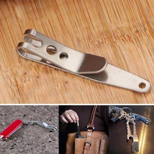 EDC Bag Key Ring Suspension Clip with Metal Key Ring Buckle Carabiner Stainless Steel Outdoor Quicklink Tool