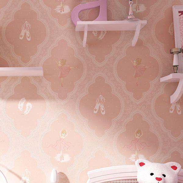 아이 벽지 어린이 방 벽 종이 화이트 핑크 블루 소년 소녀 침실 배경 화면 홈 장식 WallCovering