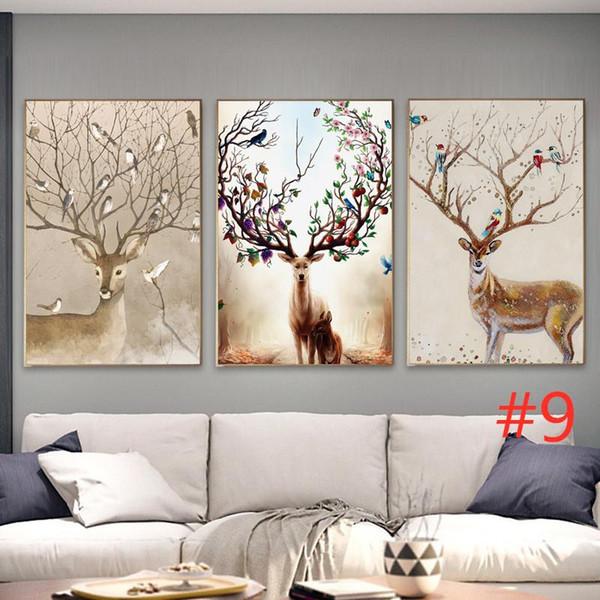 2019 di trasporto libero Triplet seduto ornamento parete divano versione tridimensionale pittura stile nordico tela tripletta