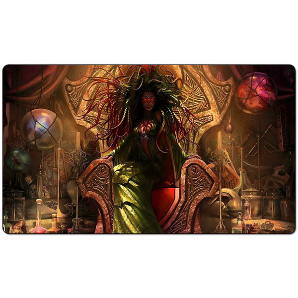 Magic Board Game Playmat:Damia Sage of Stone Fantasy 60*35cm size Table Mat Mousepad Play Matwitch fantasy occult dark female wizard2Trial o