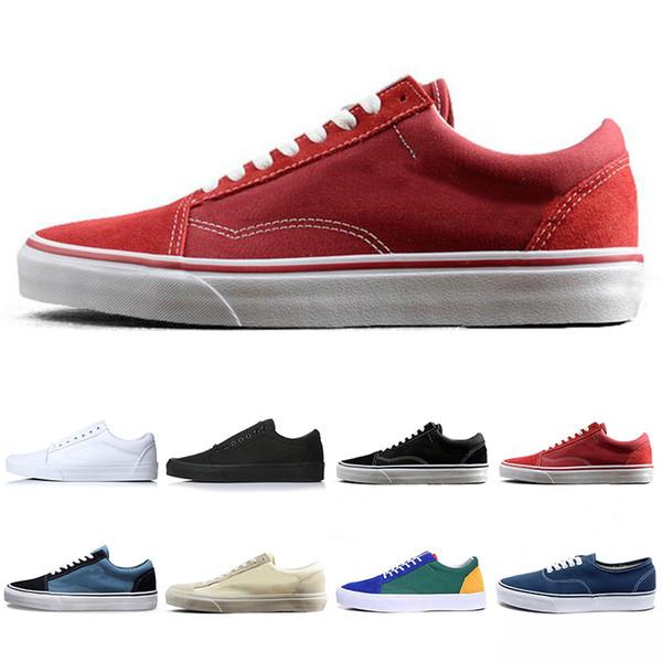 Yeni en iyi KAPALı DUVAR eski skool WAN KORKMU erkekler tuval sneakers YACHT CLUB MARSHMALLOW Için bayan moda paten rahat ayakkabılar