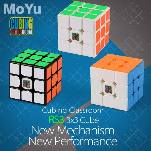 Mais novo original Moyu MF3RS3 3x3x3 V3 Cubo Mágico Enigma Profissional Mofangjiaoshi 3x3 Speed Cube Sala de Aula Brinquedo Educativo de Torção