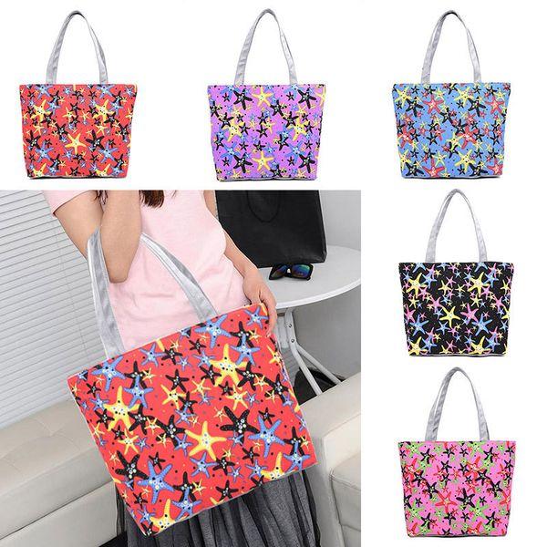 2019 Lovely Starfish Canvas Handbag Preppy School Bag For Girls Women's Handbags Cute Bags Fa$b Women Bag