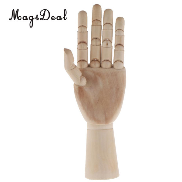 Artist Drawing Hand Manikin Articulated Sectioned Posable Mannequin Hand  Wooden Flexible Fingers Mold For Jewelry Display Stand Accessories For 18
