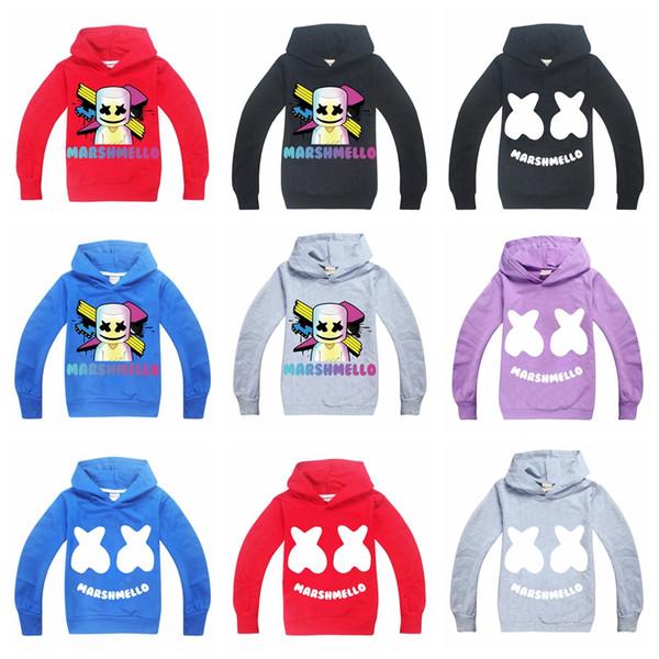 Hoodie Sweatshirt Aaa1889 Liangjingjing Dj Teen Kapuzenmantel Großhandel Jacke Langarm Von Kinder Pullover Marshmello Mask Tops watch Musik Hoodies D92EIH
