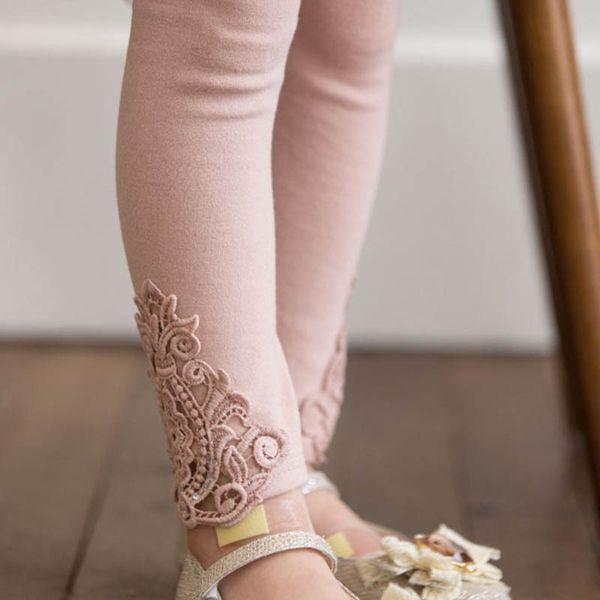 Girls Leggings lace Kids Leggings Tights 2019 new Spring Autumn cotton princess Leggings Children Trousers Pants girl clothes A3451