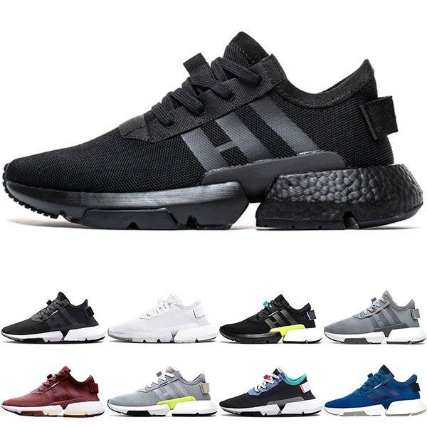 P.O.D-S3.1 System Men Women Sport Running Shoes Triple Black White Blue Pod S3.1 Tennis Trainers Sneakers Size 36-47 Wholesale