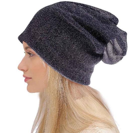 Sonbahar İlkbahar 20 renkler için 2019 Unisex Moda Beanie Hat Kadın Erkek Gümüş ipek baskı Cap Beanie Hat kasketleri Hip-hop Bonnet Caps