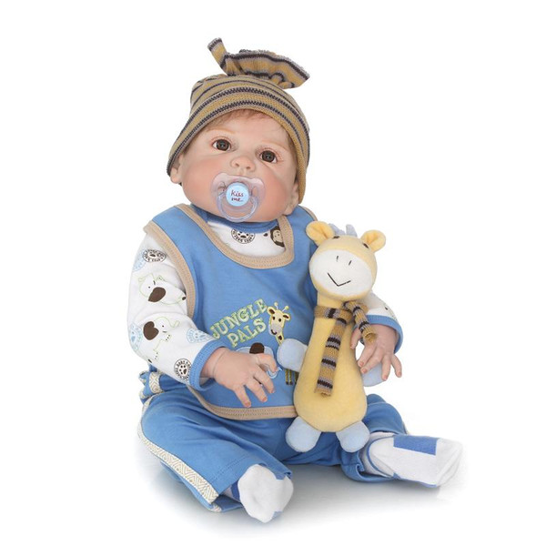 Doll Reborn Bebe reborn baby doll full vinyl silicone soft real gentle touch doll playmate for kids Birthday gift