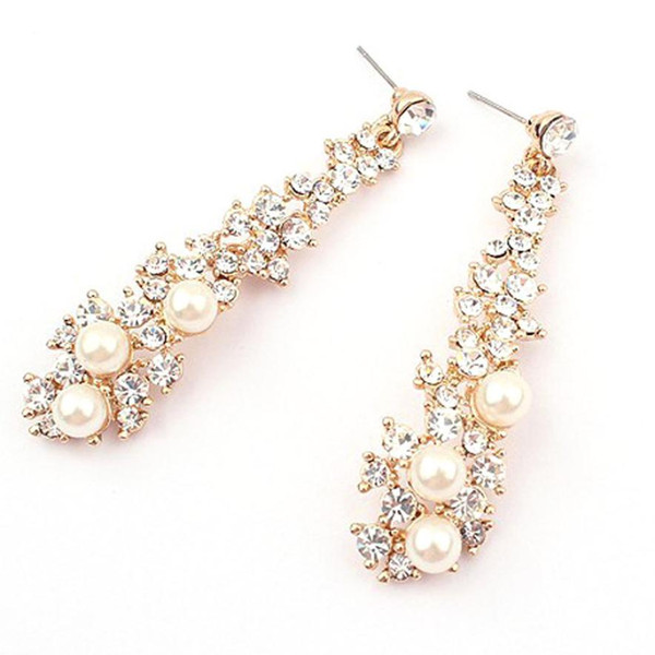HOT Frauen Strass lange Ohrringe Schmuck Accessoires Ohrringe für Frauen Oorbellen Flawless Tränken Pendientes Ornament