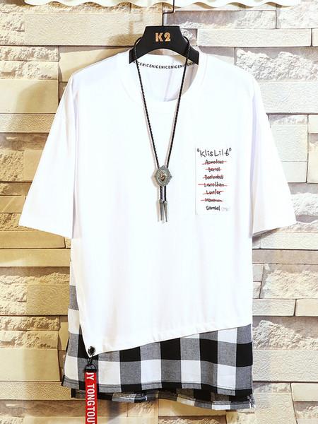 Cuatro / camiseta de manga corta para hombre, estilo coreano de verano, ropa holgada, ropa de manga larga, media manga de mujer, traje de verano