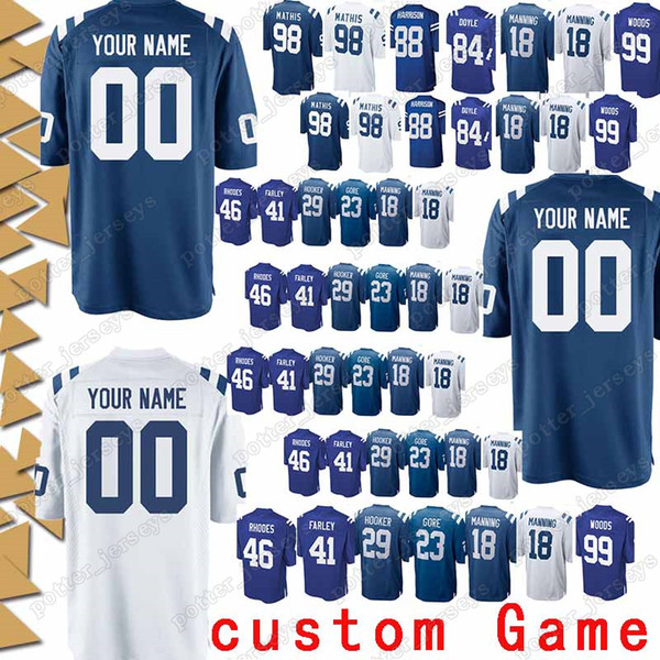 quality design 2cbec f6b0b 2019 Indianapolis 84 Jack Doyle Jerseys Colts 88 Marvin Harrison 34 Trent  Richardson 23 Frank Gore 10 Donte Moncrief 29 Malik Hooker Jersey From ...