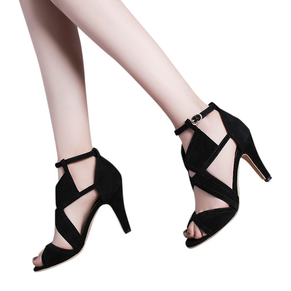YOUYEDIAN Color Matching women shoes high heel Sexy Non-Slip Nightclub Stiletto Sandals Shoes zapato tacon mujer 2019 #y2