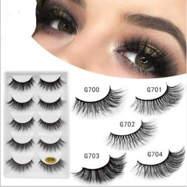 1 lot = 5 pairs of new 3D mink false eyelashes extend sexy eyelashes soft natural thick false eyelashes 3D makeup tools