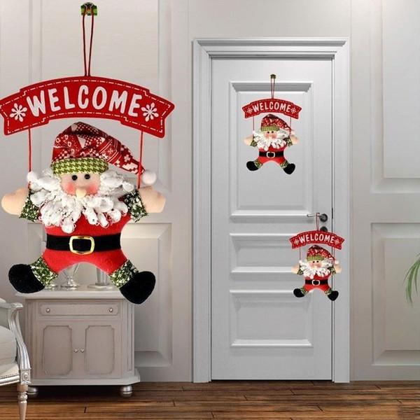Santa Claus Door Hanging Christmas Tree Home Decor Ornaments Xmas Gift 1Pcs