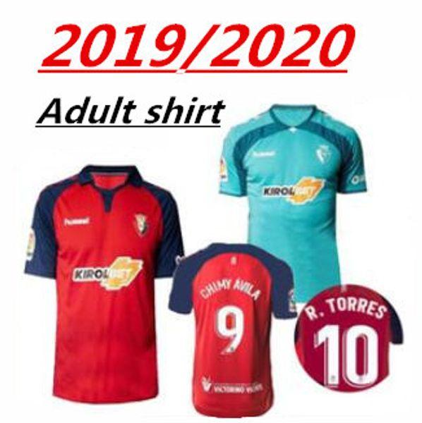 Camisetas de fútbol 2019 2020 CA Osasuna 10 R.Torres 14 Ruben Garcia 9 Chimy Avila Brandon Adrian Custom Home Red Away camiseta de fútbol
