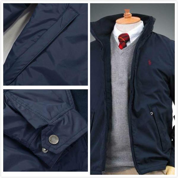Ralph Lauren мужской куртки мужской куртка дизайнер роскошь подкладка хлопок thicked зимней куртка пони patternt тенденция бренд теплого бизнес зимнего пальто