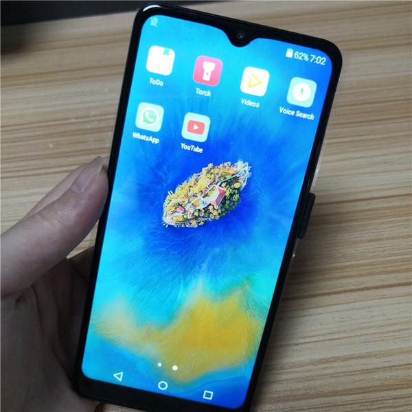 6.5 pulgadas pantalla de caída de agua Barato Mate20 Pro Smartphone MTK6580P Quad Core 1GB Ram 4G Rom teléfono móvil 3000 mAh Capacidad de la batería
