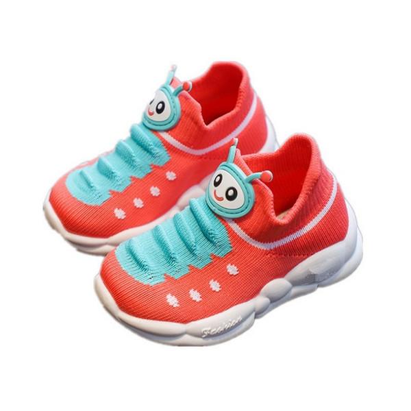 Scarpe da ginnastica per bambini Scarpe a calza lavorate a maglia Scarpe da cartone animato carino Ragazza bambino Moda bambini Sneakers High Toe Ragazzo bambino