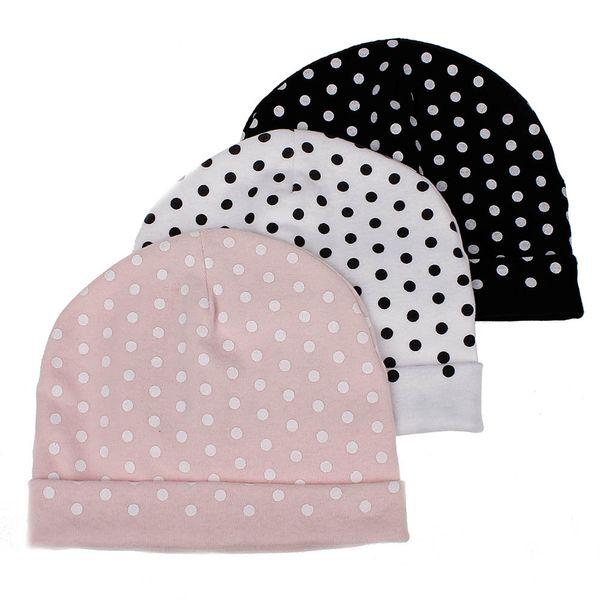 Sombreros de punto de algodón para bebés 6 colores Otoño Invierno Estilo casual Sombreros Gorras para bebés Niños Niñas Crochet Beanie 3 piezas ePacket