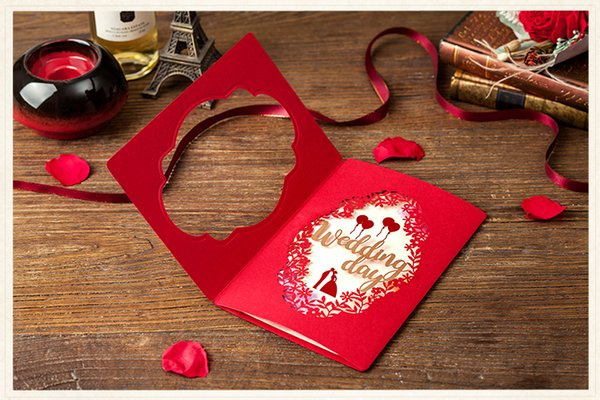 Laser Cut Wedding Day Red Wedding Invitation Card Invitations Engagement Anniversary Invitation Card With Greetings Cards For Birthday Greetings
