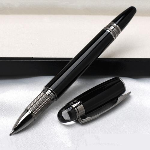 Promotion - Hochwertige Monte Kugelschreiber Star-Waiker Black Resin Tintenroller Kugelschreiber Füllfederhalter Schreibwaren Büro mit Seriennummer