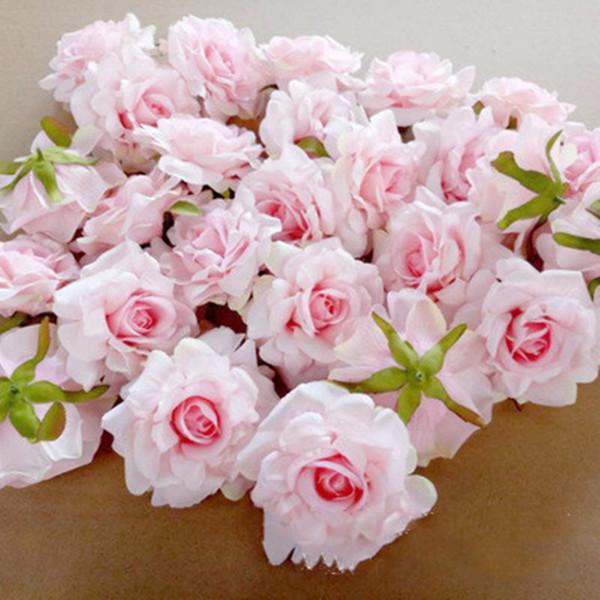 Silk Rose künstliche Blumen-Kopf 10cm Hochzeit Dekorationen Display-Blumen-Simulation Blumen-Köpfe für Hauptdekor Gefälschte Blume
