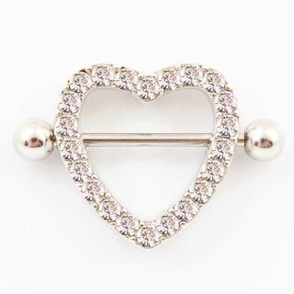 Body gioielli cuore capezzolo anello 14G in acciaio inox pin corpo piercing moda gioielli donne spedizione gratuita piercing capezzolo