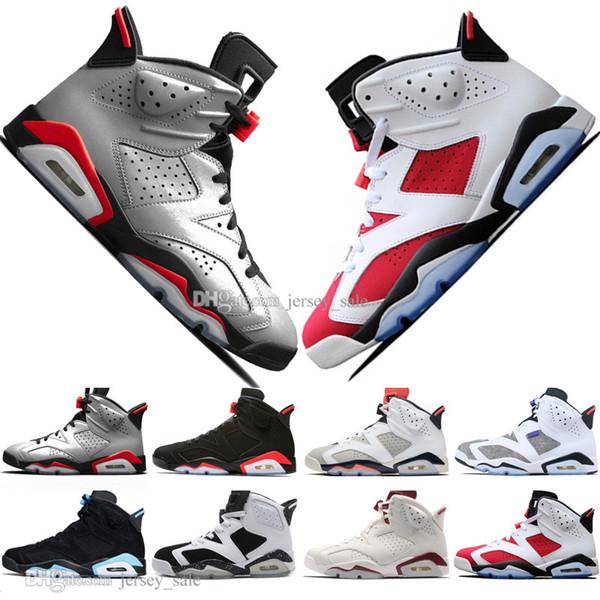 2019 Infrared Bred 6 6s Mens Scarpe da pallacanestro 3M Riflettente Flint Sport Blu Bianco Cemento Carmine Uomo Sneakers Designer Scarpe da ginnastica Taglia 7-13