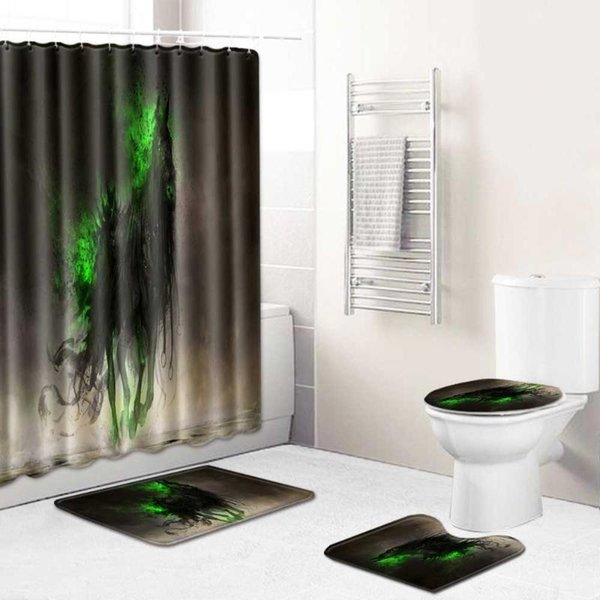 Shower Curtain 4pcs 5 CHINA 45x75CM