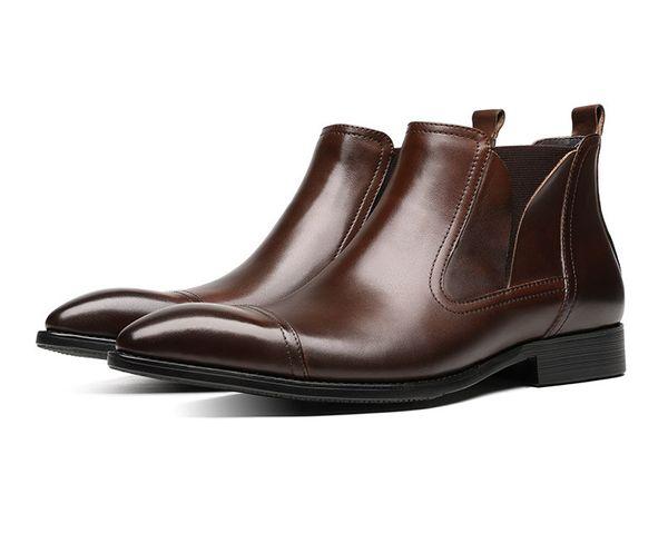 Knöchel Echtem Auf Aus Stiefel Von 34 Braun Spitz Großhandel Herren Mode Männlichen Kleid Schuhe Soziale Schwarz Leder Stiefeletten Purpurpur129 hdtrsQC