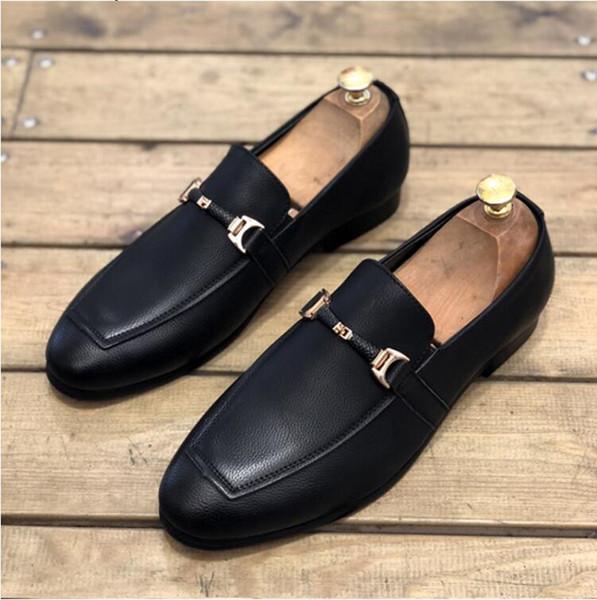 Bahar sivri Koreli erkek ayakkabı Elbise İngiliz iş bir ayak bezelye fasulye ayakkabı saç stilisti set ayak düğün