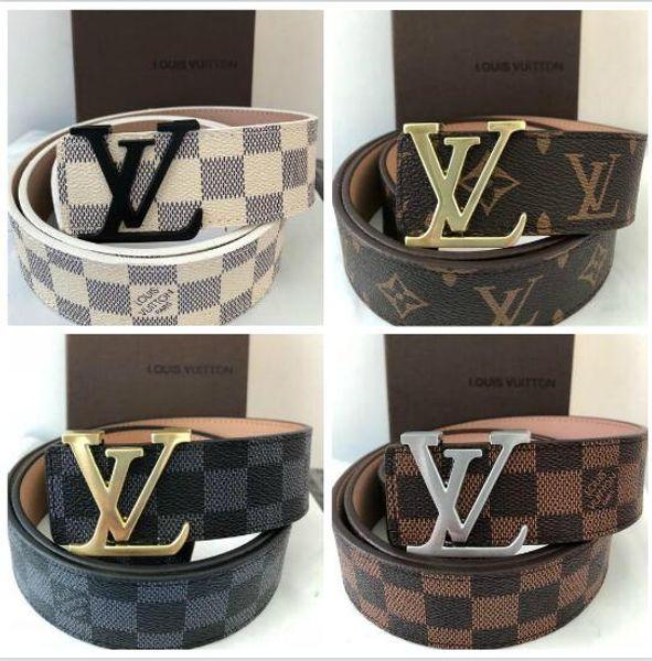 Cinturón de cuero de la mascota de lujo con diseñador de metal liso Cinturones LOVE hombres, mujeres, hombres y mujeres de alta calidad nuevos cinturones de marca de fábrica de Google Combinados con caja