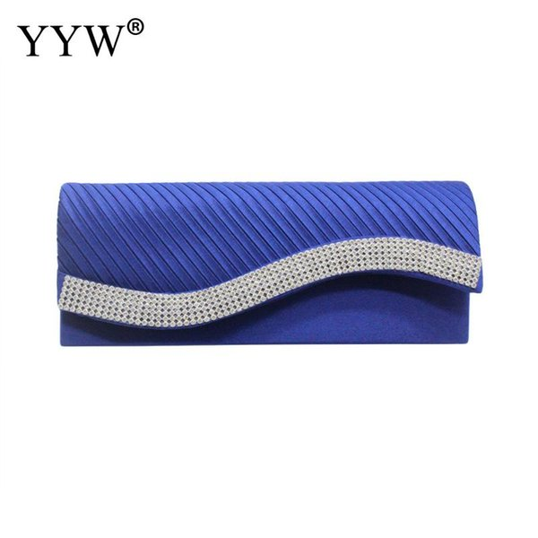 Silk Envelope Bag Party Evening Designer Rhinestone Bridal Night Clutch Purse Chain Shoulder Bags For Female Clutches Yellow