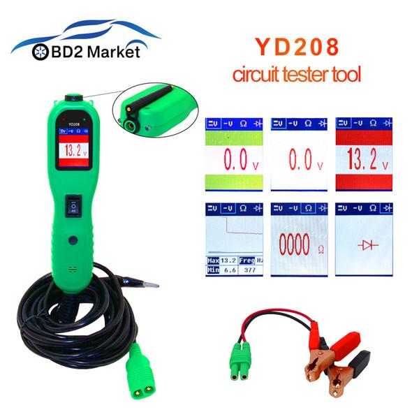 قوة التحقيق اختبار أداة YD208 السيارات نظام الدوائر الكهربائية تستر نفس vgate pt150 الجهد اختبار الماسح YD 208 أداة تشخيص