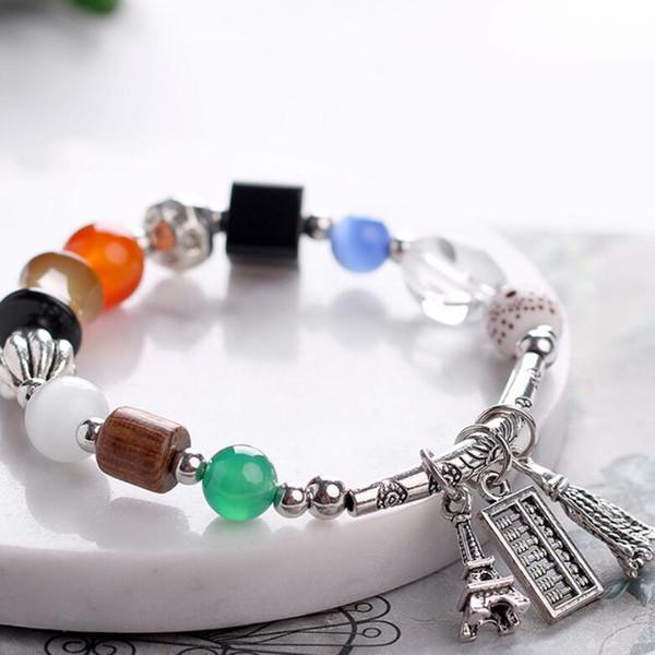 agate bijoux design bracelets bracelets de perles en bois naturel opale ethniques pour les femmes mode chaud gratuit de l'expédition