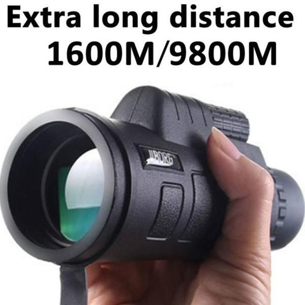 Vision 40x60 HD optique monoculaire Camping Chasse Randonnée Telescope vision monoculaire jour Jumelles puissantes Outils étanches # 20