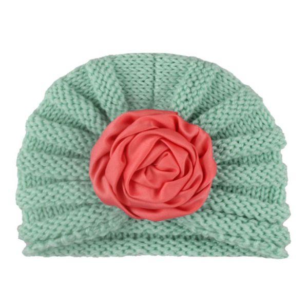 Baby Infant Toddler Girl Boy Flower Hat Turban Kids Beanie Cap for Photography