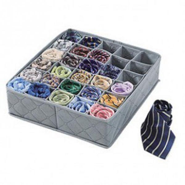 Dokunmamış kumaş iç çamaşırı çekmece Yüksek Kaliteli Katlanabilir çorap Giyim organizatör saklama kutusu 30 hücreleri 2 adet / grup