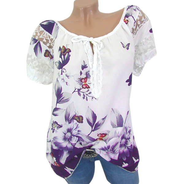 Size Plus 5xl Blouse Summer Tops For Womens Tops And Blouses Streetwear Floral Print Shirt Tunic Ladies Top Womens Clothing#ghc