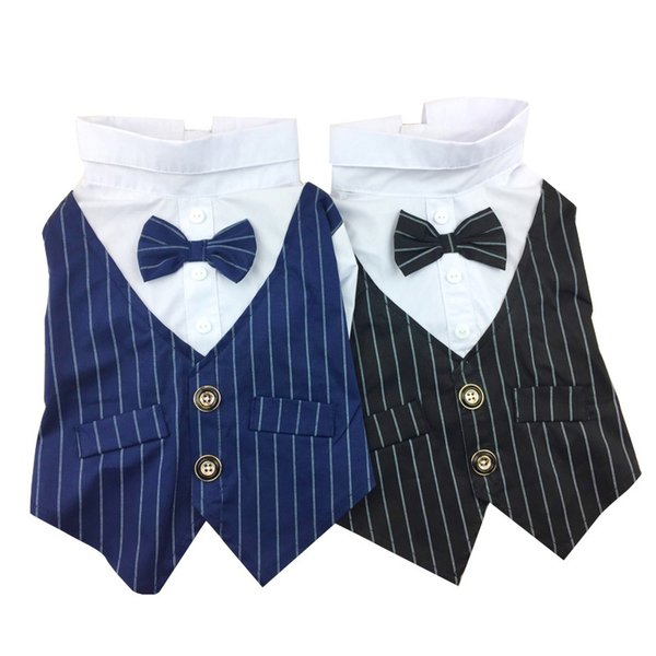 Formal Dog Clothes Wedding Pet Dog Suit Costume Pet Tuxedo Clothes For Small Medium Dogs Pug French Bulldog Bow Tie Dogs Clothes